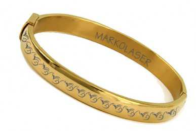 Laser marking on bangles